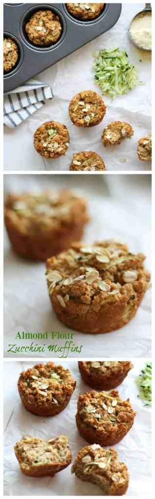 Almond Flour Zucchini Muffins {gluten free, vegan} // pumpkinandpeanutbutter.com