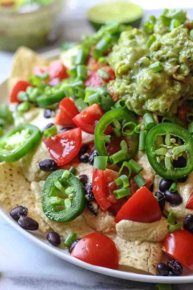 Vegan Loaded Nachos with Chile Cashew Cheese {vegan, gluten free} // pumpkinandpeanutbutter.com