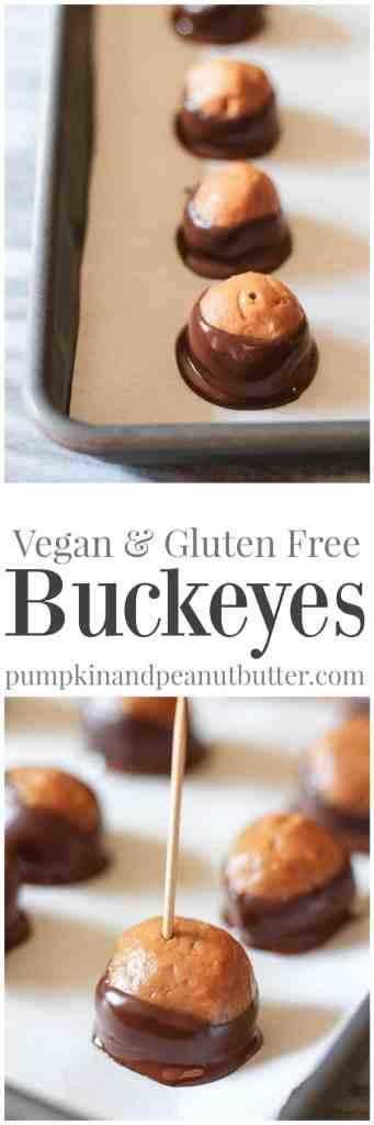 Vegan & Gluten Free Buckeyes // pumpkinandpeanutbutter.com