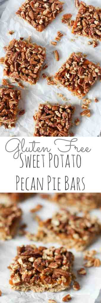 Gluten Free Sweet Potato Pie Bars // pumpkinandpeanutbutter.com