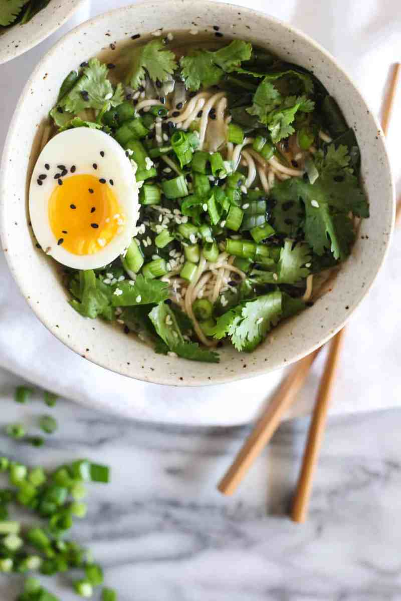 One Pot Ginger & Greens Miso Ramen
