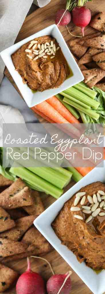 Roasted Eggplant Red Pepper Dip || pumpkin + peanut butter