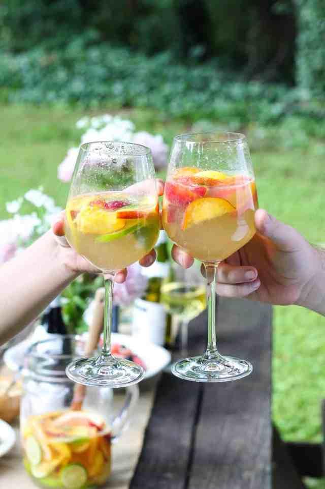Summer Picnic + Grapefruit Peach Sangria
