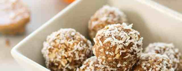 Pumpkin Peanut Butter Energy Balls {dairy free, gluten free} | pumpkin & peanut butter