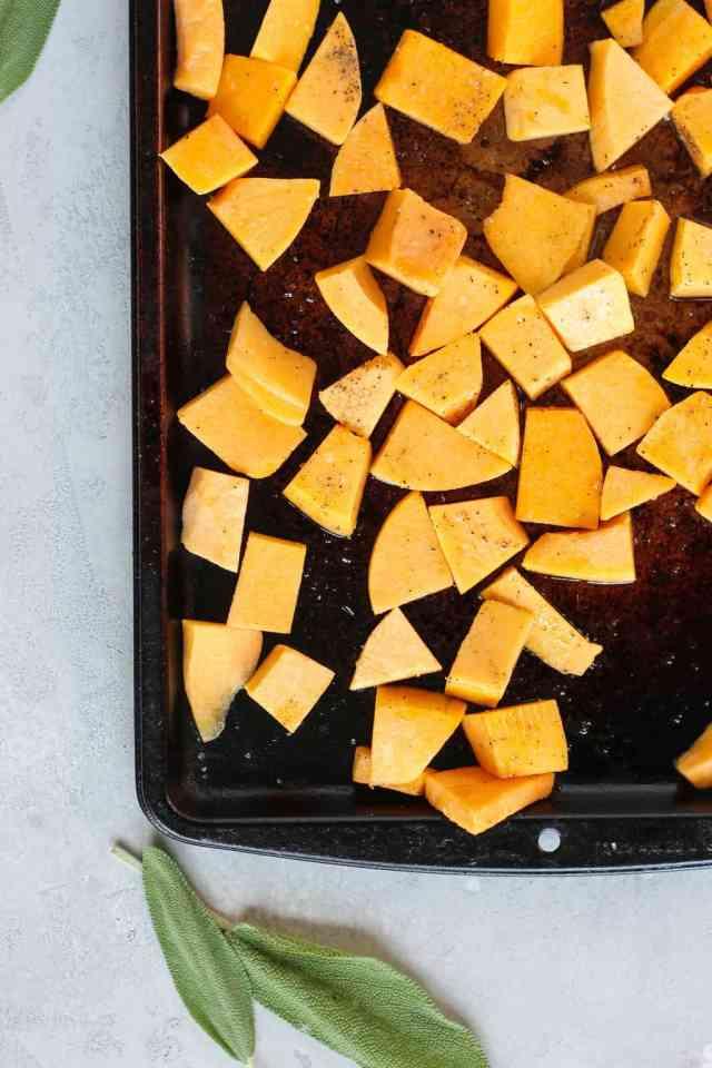 Roasted Butternut Squash Hummus with Crispy Sage   pumpkin & peanut butter