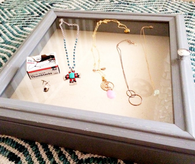 necklaces on shadowbox blog pic