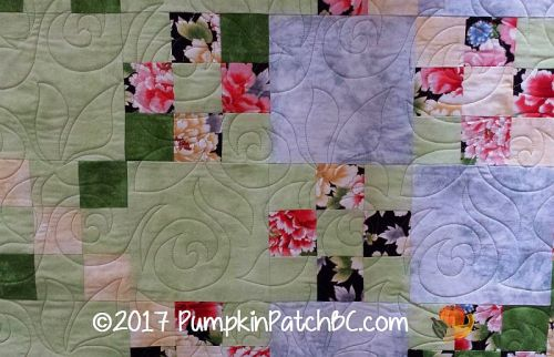 Nine Patches and Roses Detail 1