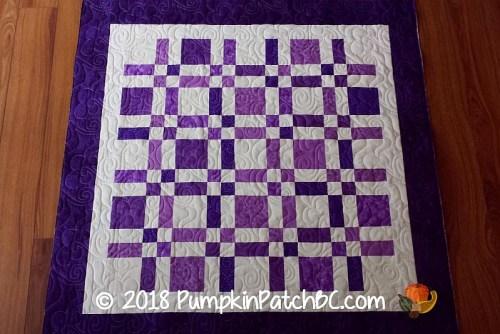 Scrap Quilt Purple