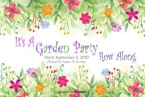 It's A Garden Party Row Along 2020 Logo
