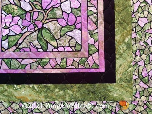 Stained Glass Flowers Detail 2