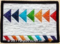 Rainbow Geese Mug Rug PPP035