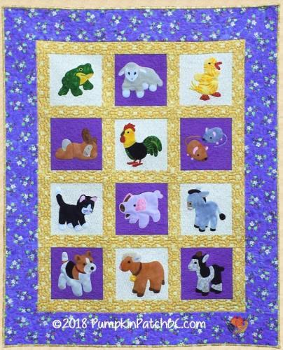 Barnyard Bash Crib Quilt PPP038