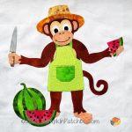 059-08 Monkey Business Block #8