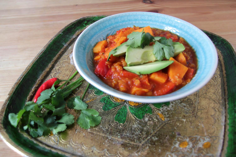 Süßkartoffel-Linsen-Chili