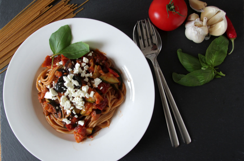 Mediterrane Veggie-Pasta
