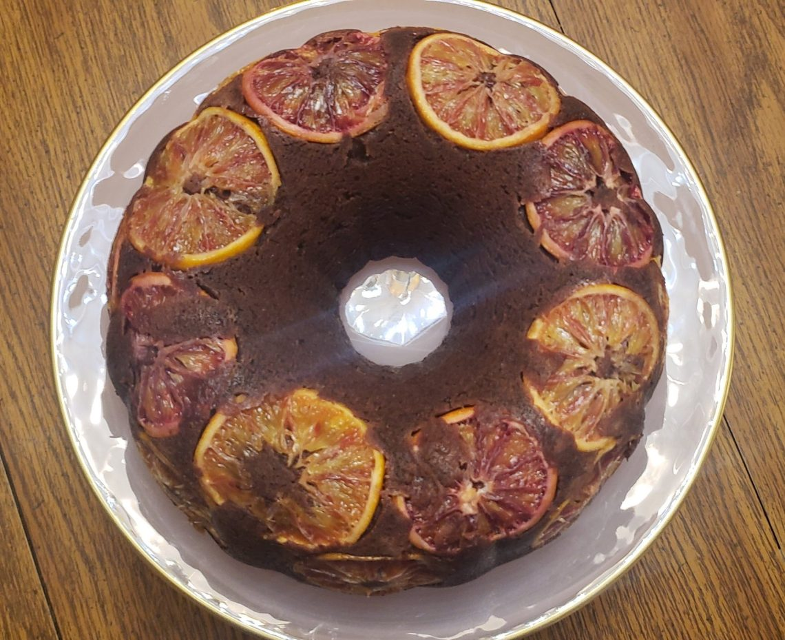 Chocolate blood orange pound cake