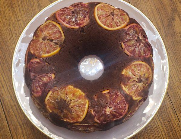 Chocolate blood orange pound cake