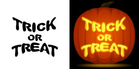 Free Trick Or Treat Pumpkin Stencil