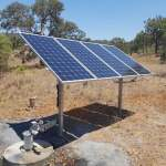 Photo Solar panel array x 4 on post