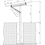 Single Post Stand For 1 panel drawing