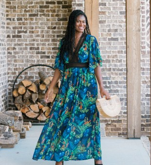 Transitional Printed Maxi Dress