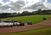 Synthetic turf was added to Alexander Field.
