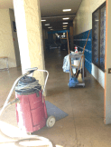 Bishop Hall got a scrub down.