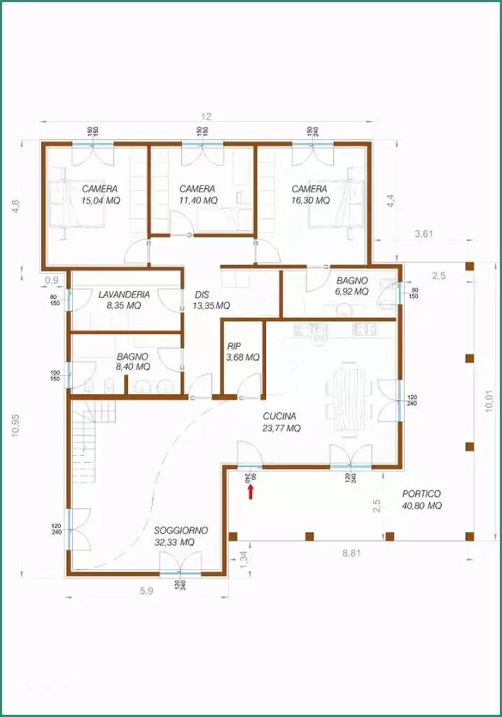 Progetto Casa Singola Piani E Pro To Casa 120 Mq Un Piano