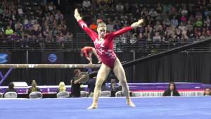 Audrey Rousseau (CAN) - Floor Exercise - 2016 Pacific Rim Championships Team/AA Final