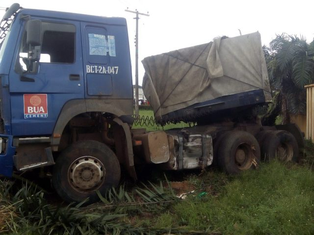Protests as truck crushes keke driver to death