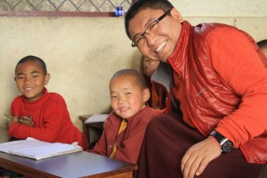 Rinpoche with young student