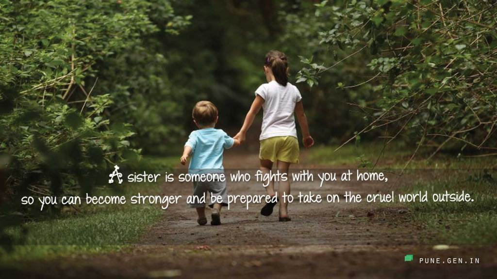 Cute quote about sisters she makes you stronger