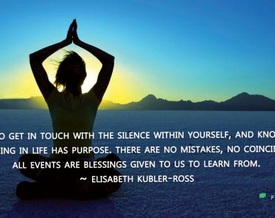 Life / Purpose Quotes : Learn to get in touch...