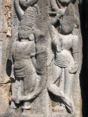 Sculptures on the pillars