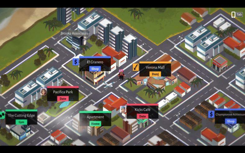 Boyfriend Dungeon Review - world map