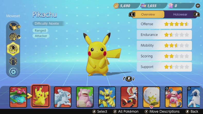 Pokémon Unite tier list - Attackers - Pikachu