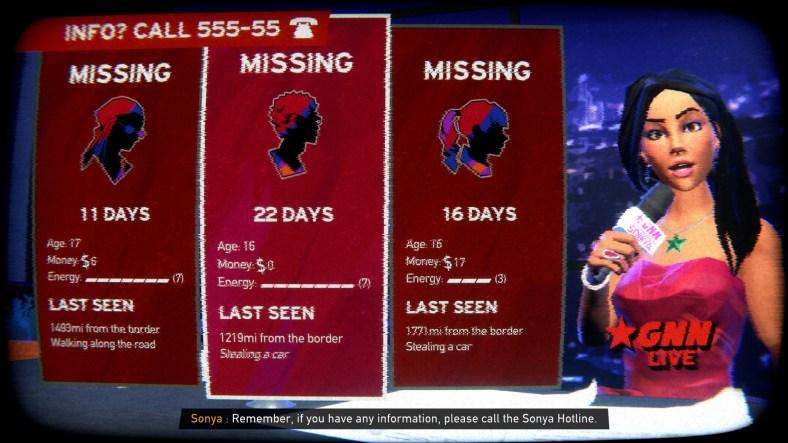Road 96 missing teens report