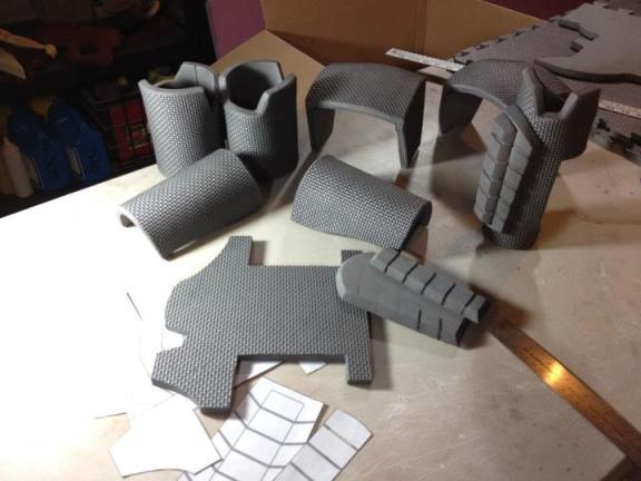 Mass effect n7 eva foam armor punished props n7 armor step 1 maxwellsz