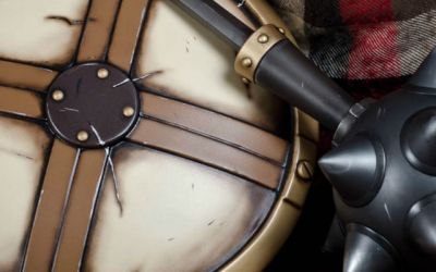 Queen's Blade – Risty's Spiked Mace & Shield