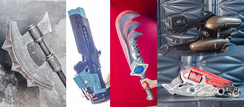 Cheap, durable foam weapon props.