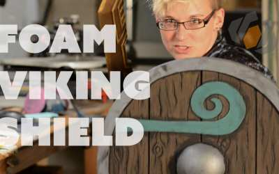 Prop: Live from the Shop – Making a Foam Viking Shield with the Viking Lass!