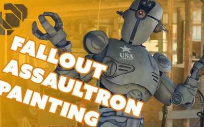 Painting the Assaultron Armor and Bodysuit – Prop: Shop