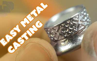Easy Metal Casting with a Silicone Mold and Pewter – Prop: Live from the Shop