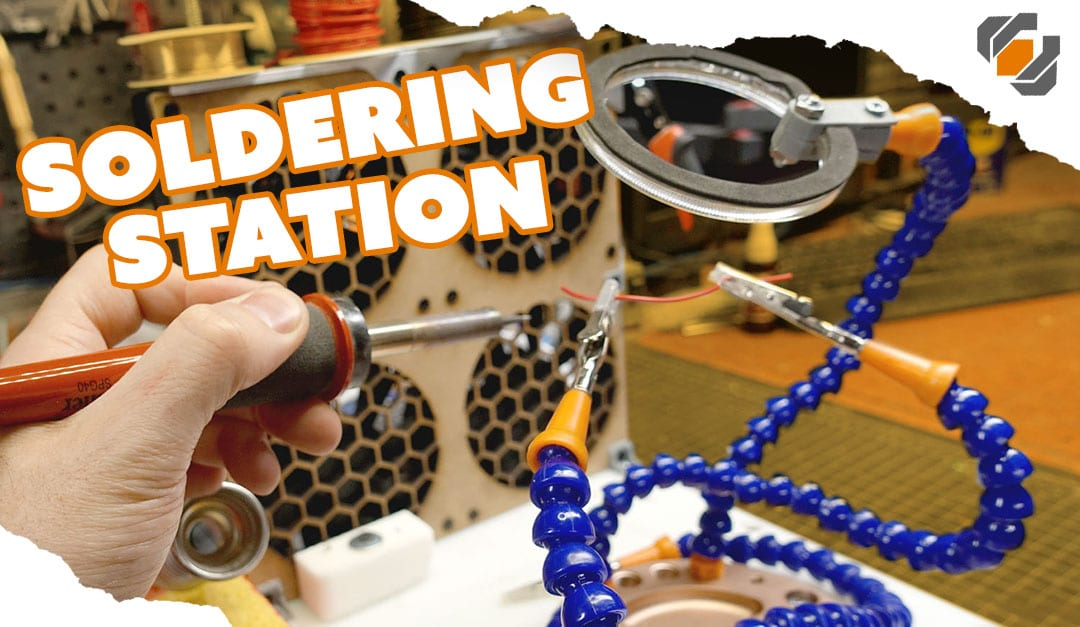 Custom Soldering Workstation with Light and Fan Evacuation