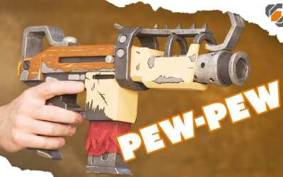 how to make a prop gun out of wood