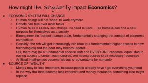 Lesson Plan - How Technological Changes in the Singularity might impact Economics
