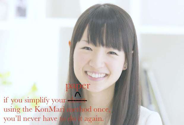 A nice Pinterest friendly image: KonMari your Writing - How to Decrease Word Count and Improve Writing Quality