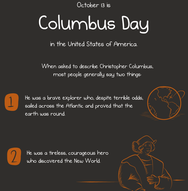 Ugh Columbus Day - picture from The Oatmeal