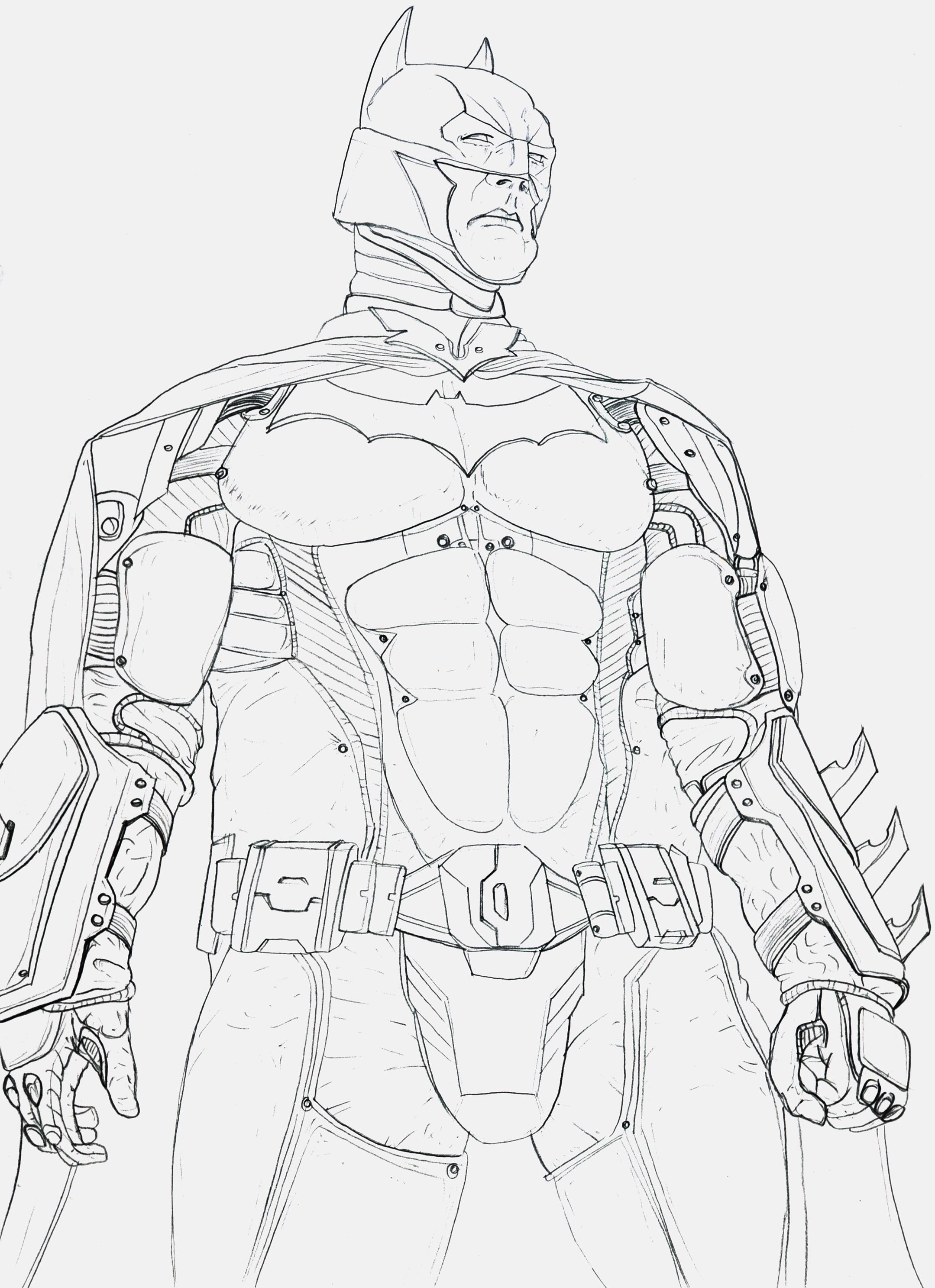 Man Bat In White