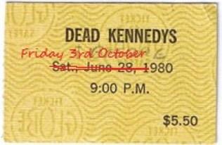 dead kennedys ticket